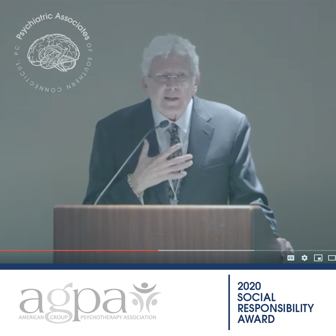 Dr. Robert Klein Receives The American Group of Psychotherapy Association 2020 Award For Social Responsibility